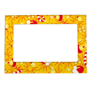 Yellow - Santa's cap Magnetic Picture Frame