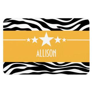 Yellow Sassy Star Zebra Premium Magnet