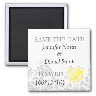 Yellow Save The Dates Magnets