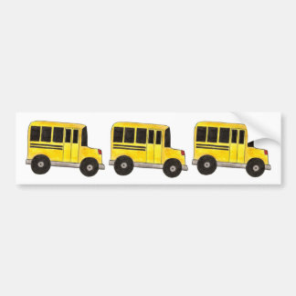 Yellow School Bus Buses Driver Gift Bumper Sticker