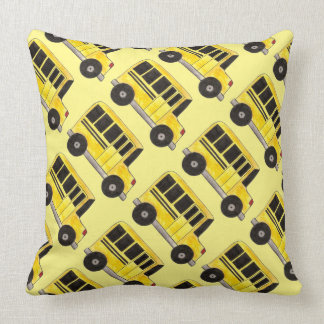 Yellow School Bus Buses Driver Personalized Pillow
