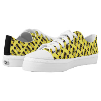 Yellow School Bus Buses Driver Teacher Sneakers