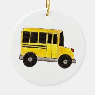 Yellow School Bus Teacher Driver Gift Ornament