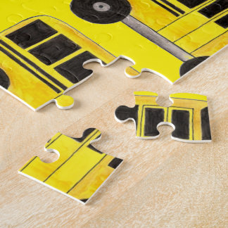Yellow School Bus Teacher Driver Gift Puzzle
