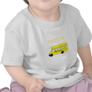 Yellow School Bus with stop sign Tshirts