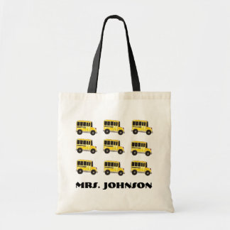 Yellow School Buses Bus Driver Teacher Gift Tote