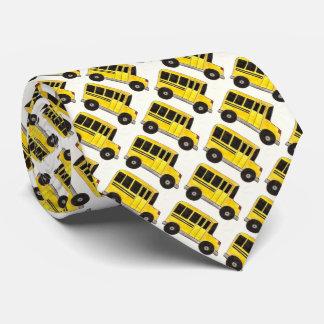 Yellow School Buses Bus Driver Teacher School Tie