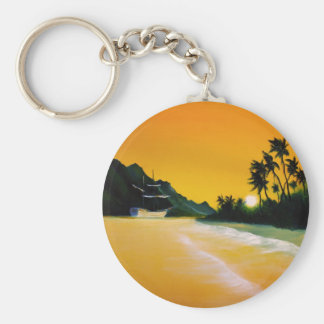 yellow sea.jpg basic round button key ring