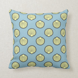 Yellow Sea Scallop Shell Pattern Cushion