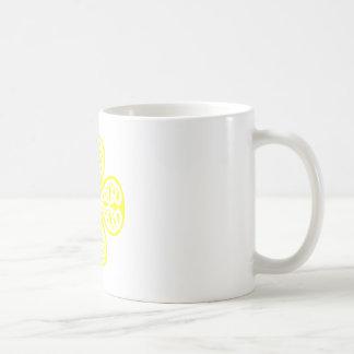 yellow shamrock celtic knot mugs