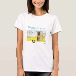 Yellow Shasta Camping Trailer Woman's Tee Shirt