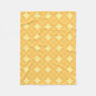 Yellow shippo fleece blanket