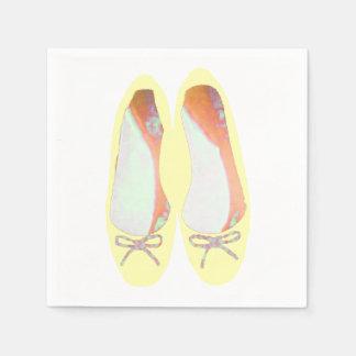 Yellow Shoes Disposable Napkin