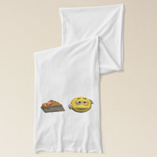 Yellow sick emoticon or smiley scarf