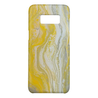 Yellow & Silver Abstract Samsung Case