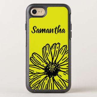 Yellow Simple Bright Fun Daisy Personalize OtterBox Symmetry iPhone 8/7 Case