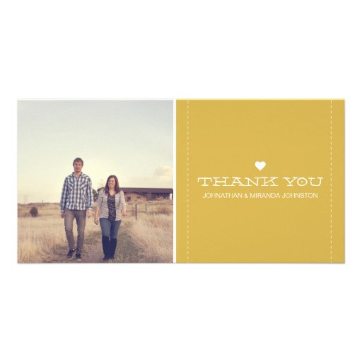Yellow Simply Chic Photo Wedding Thank You Cards Photo Card