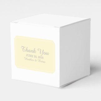 Yellow Simply Elegant Favor Boxes