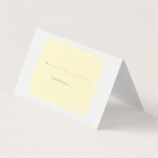Yellow Simply Elegant Place Cards