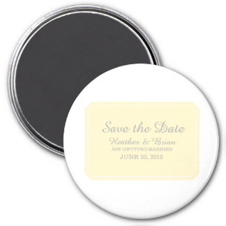 Yellow Simply Elegant Save the Date Magnet