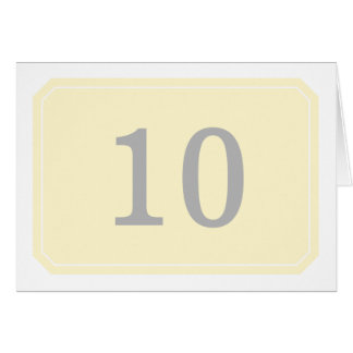 Yellow Simply Elegant Table Number Card