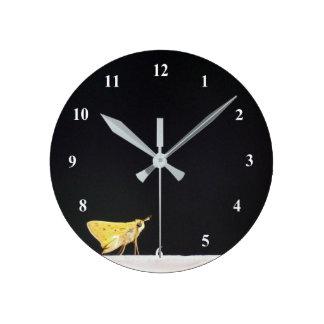 Yellow Skipper Butterfly Clock