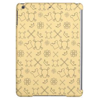 Yellow Skull and Bones pattern