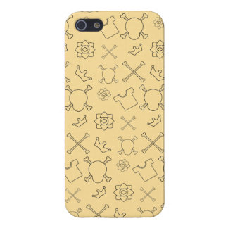 Yellow Skull and Bones pattern iPhone 5/5S Case