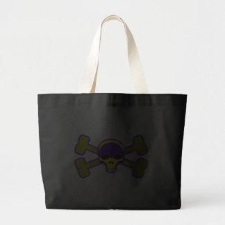yellow skull and crossbones bags