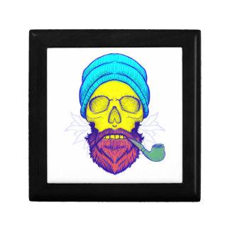 Yellow Skull Smoking Pipe. Gift Box