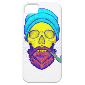 Yellow Skull Smoking Pipe. iPhone 5 Cover