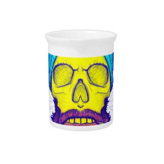 Yellow Skull Smoking Pipe. Pitcher