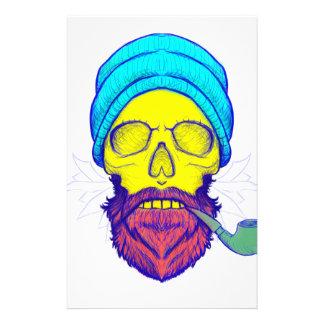 Yellow Skull Smoking Pipe. Stationery
