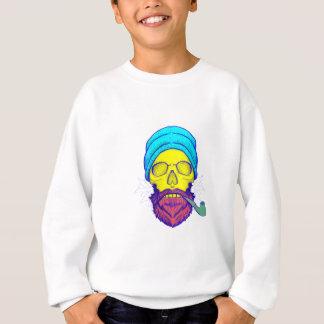 Yellow Skull Smoking Pipe. Sweatshirt