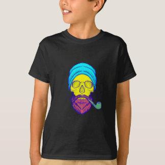 Yellow Skull Smoking Pipe. T-Shirt