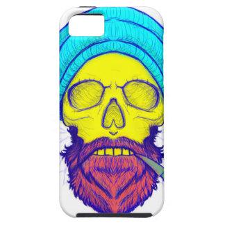 Yellow Skull Smoking Pipe. Tough iPhone 5 Case