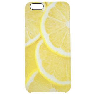 Yellow Slice Lemons Clear iPhone 6 Plus Case