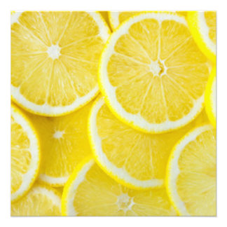 Yellow Slice Lemons Photo Print