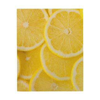 Yellow Slice Lemons Wood Wall Decor