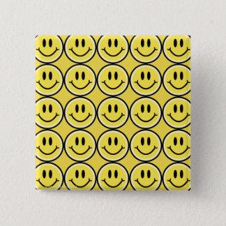 Yellow Smile 15 Cm Square Badge