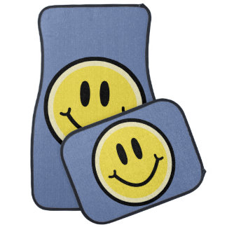 Yellow Smile Car Mat