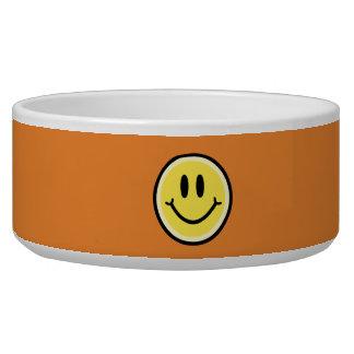 Yellow Smile Dog Food Bowl
