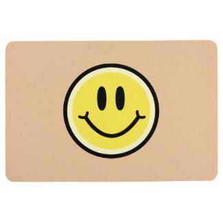 Yellow Smile Floor Mat