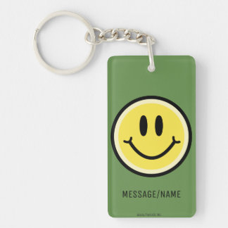 Yellow Smile Key Ring