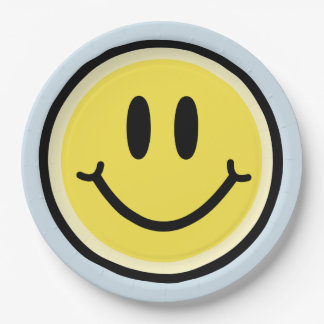 Yellow Smile Paper Plate