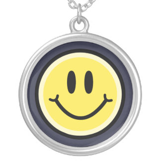 Yellow Smile Silver Plated Necklace