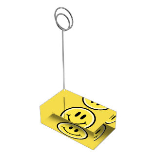 Yellow Smile Table Card Holder
