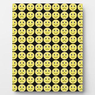 Yellow smiles display plaque