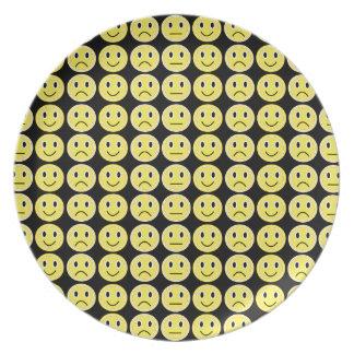 Yellow smiles plate