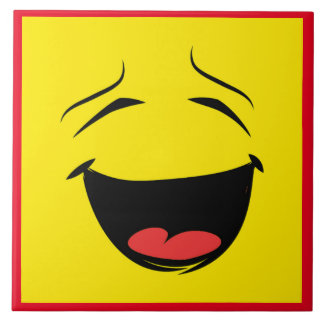 YELLOW SMILEY CERAMIC TILE